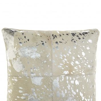 Patched Cowhide Accent Pillow | Calypso St. Barth