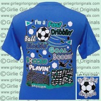 Soccer Girl - Sapphire Blue (Short Sleeve) [gg-102] - $16.99 : Girlie Girl™ Originals - Great T-Shirts for Girlie Girls!