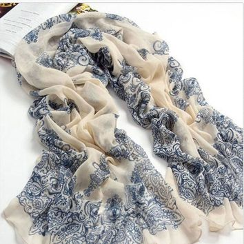 2018 scarf thin chiffon polyester silk scarf spring and autumn accessories women's summer sunscreen cape