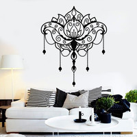 Vinyl Wall Decal Lotus Flower Yoga Center Art Decor Room Design Stickers Unique Gift (1033ig)