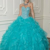 New Sweetheart Quinceanera Dresses Prom Party Ball Gown Bridal Gowns Size Custom