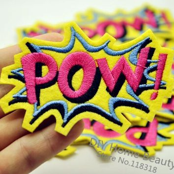1 PCS POW Embroidered Iron on Patches for Clothing