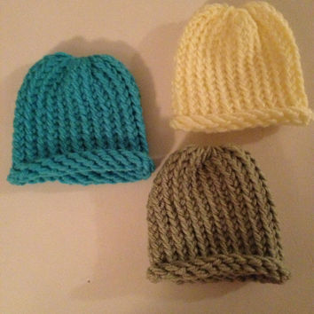 Knit American Girl Doll Hat- Spring colors