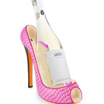 Wild Eye High Heel Bottle Holder, Pink Croc