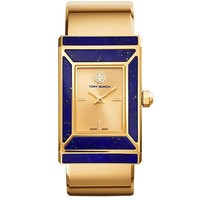 Tory Burch Limited Edition, Gold-tone/lapis, 38 X 25 Mm