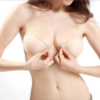 Sticky Strapless Backless Silicone Fabric Self Adhesive Invisible Bra
