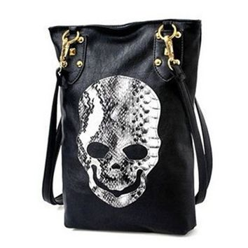 Skull Bag 2017 Black PU Cartoon Bolsa De Festa Famous Designer Purses And Handbags Shoulder Messenger Crossbody Bags For Women