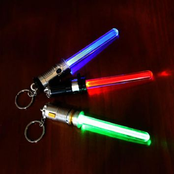 Star Wars Laser Sword Light Key Button Black Knight Laser Button Charm Luminescent Child Lightsaber Boy and girl children's ToyS