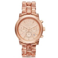 Audrina Blush Acetate and Rose Gold-Tone Watch | Michael Kors