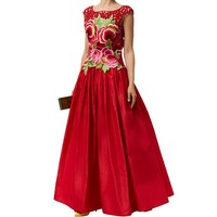 Naeem Khan Embroidered Floral Faille Ball Gown | Harrods.com