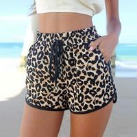New Women's Shorts European Fashion Spring Summer Leopard Printed Shorts Casual Short Pants_Pants / Shorts_Women_Women's Fashion Zone & Best Price Clothes