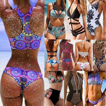 Women Hot Push-up Padded Bra Bandage Bikini Set Swimsuit Triangle Swimwear US AM   1