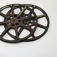 Vintage Large Movie Film Reels Set of Two B&H Perm a Lined
