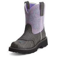 Ariat Women's Fatbaby Boot - Charcoal Elephant Print/Gray Violet