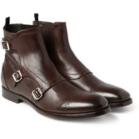Alexander McQueen - Triple Monk-Strap Brogue Boots | MR PORTER