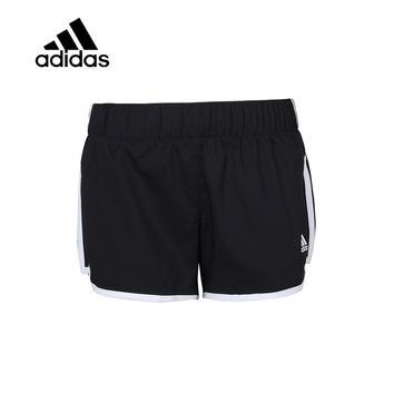 Original New Arrival Authentic Adidas Women Trainning Exercise Running Shorts Female Black Leisure Breathable Sportswear