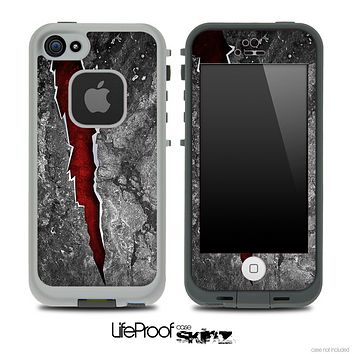 Red Tear Skin for the iPhone 5 or 4/4s LifeProof Case