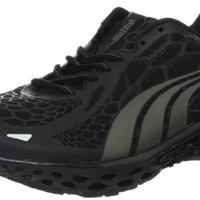PUMA Men's BioWeb Elite Running Shoe Running Shoe,Black Aged Silver,11 D US