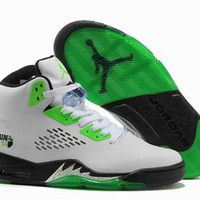 Cheap Air Jordan 5 Retro Men Shoes White Green