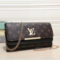 Louis Vuitton New Fashion Women Fashion Leather Chain Satchel Shoulder Bag Handbag Crossbody