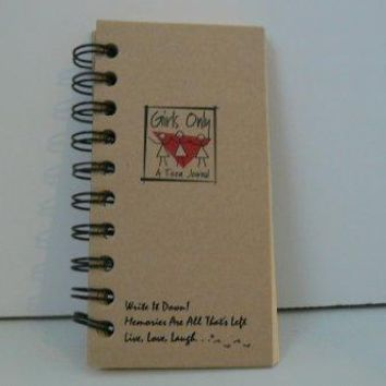 Girls Only A Teen Journal ndash MINI Kraft Hard Cover prompts on every page recycled paper read more