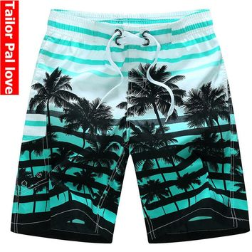 Mens Retro Swimming Beach Trunks Shorts Print Shorts