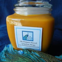 Grapefruit & Mango Scented Soy Candle in Fancy Glass Jar