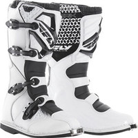 FLY RACING MAVERIK MX BOOTS WHITE SZ 6 PART# 364-56406