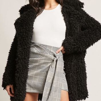 Glen Plaid Wrap Skirt