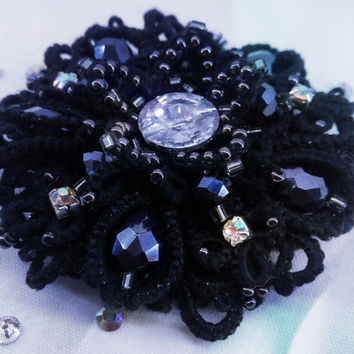 "Brooch handmade ""Light the Night""."