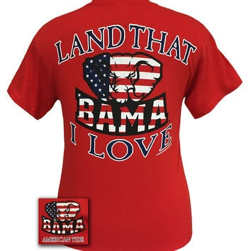 Alabama Crimson Tide Land That I Love American Girlie Bright T Shirt