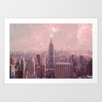 Stardust Covering New York Art Print by Bianca Green