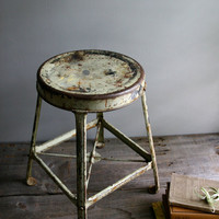 industrial metal shop stool