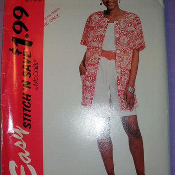 Women's Shirt, Tank Top and Culottes Pattern Misses' Size 10,12,14,16 Stitch 'n Save McCall's 7043 Sewing Pattern UNCUT