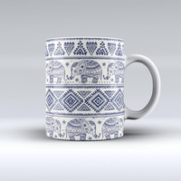 The Sacred Elephant Pattern ink-Fuzed Ceramic Coffee Mug