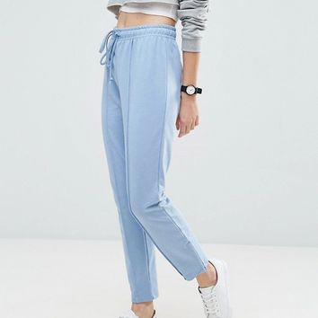 ASOS Marl Track Pants with Zip Sides at asos.com