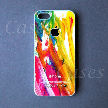 Iphone 5 Case - Colorful Paint Iphone 5 Cover -  PRE ORDER (Ships Oct 1)