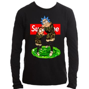 Rick Supreme Rick and Morty Long Sleeve T-Shirt Tee