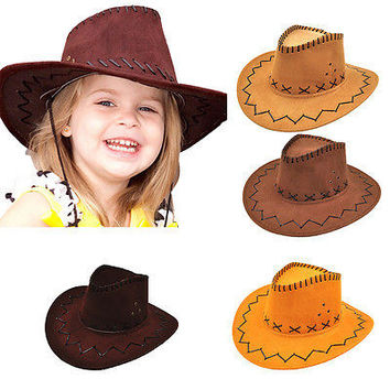 Halloween Style Western Cowgirl Cowboy Hat For Boys Gilrs Party Costumes Cap HU
