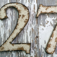 Rustic shabby chic style numbers and letters Custom personalized photo prop home decor wall hanging wedding birthday farm house cottage