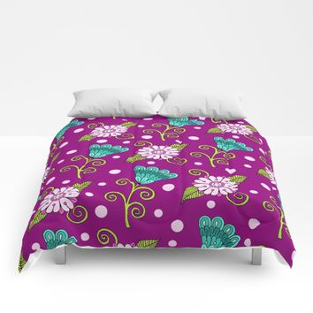 Floral Dot Motif Comforters by Sarah Oelerich