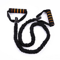 120cm Yoga Pull Rope Elastic Rope Fitness Resistance Bands Excercise Equipment Workout Gym Practical Training Elastic Band Rope
