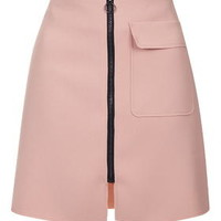 Crepe Patch Pocket Skirt - Rose