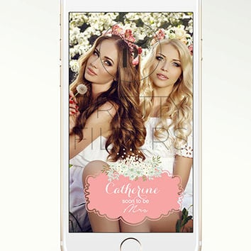 DIY Snapchat GeoFilter for Birthday or Bridal shower Party | Enter Your Details | We Customize for You | Ready in 24 hours | Perfect Gift