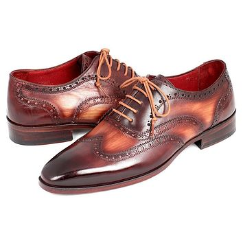 Paul Parkman Men's Two Tone Wingtip Oxfords Shoes (ID#PP22TX54)