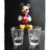 Mickey Mouse Etched Shot Glass Barware Collectible Choose your Favorite