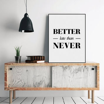 Modern Minimalist Black White Inspirational Typography Quote Art Print Poster Wall Picture Living Room Canvas Painting Home Deco