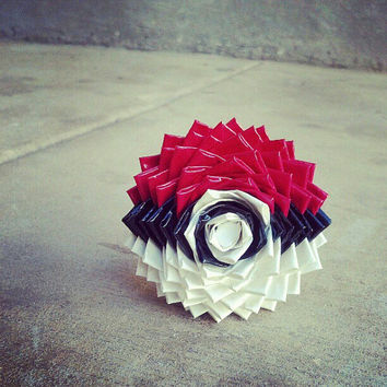 Extra Large Duct Tape Pokeball Flower Pen