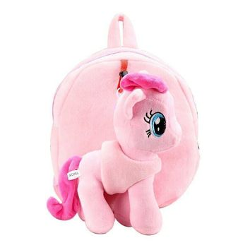 High Quality Cute 3D Little Pony Minion Plush Backpack Children's Shoulder Bag Cartoon School Bag for Kids Satchel