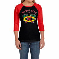 Chicago Blackhawks T shirt, Blackhawks shirt, Chicago Blackhawks Raglan, Chicago Blackhawks My Cup Size Is Chicago Blackhawks Raglan T shirt